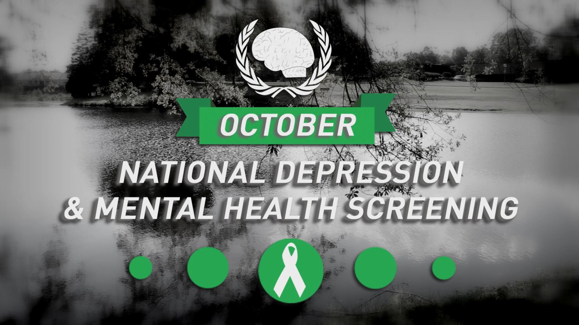 October: Nat'l Depression & Mental Health Screening Month